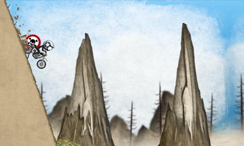 Screenshots of Stickman Downhill Motocross for iPhone