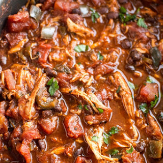 Crockpot Roasted Tomato and Ancho Chicken Chili