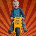 Kuba motorbike for kids - free icon