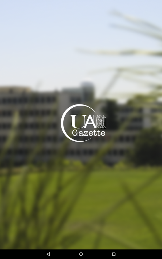 UAM Gazette: captura de pantalla