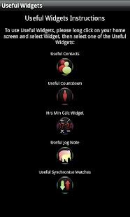 Useful Widgets- screenshot thumbnail