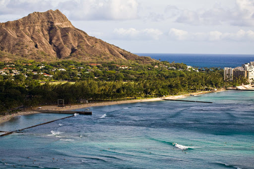 Diamond-Head - A shot of Diamond Head, known to locals as Leahi.