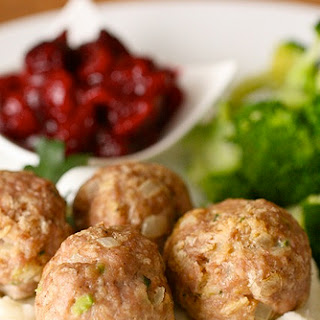 Herbed Turkey Meatballs with Cranberry Sauce Recipe