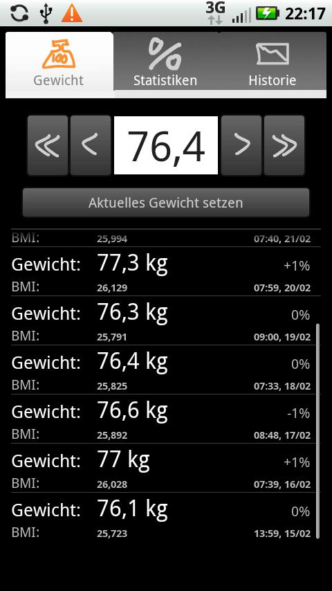 Droid Weight - screenshot
