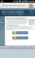 Screenshot of AML SAR Filing / BSA Reporting