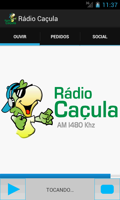 Rádio Caçula - Três Lagoas- screenshot