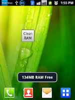 Screenshot of RAM Cleaner for Android