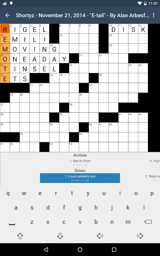 Shortyz Crosswords- screenshot
