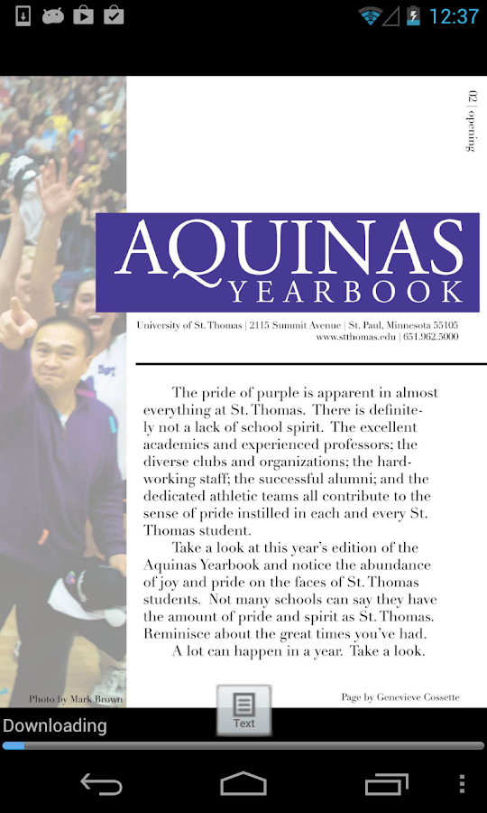 Aquinas Yearbook - screenshot