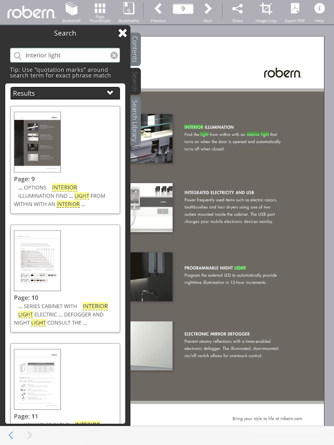 Robern Catalogs- screenshot