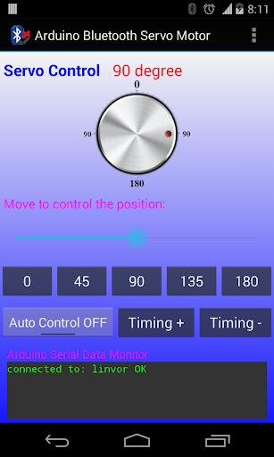 Arduino Bluetooth Servo Motor