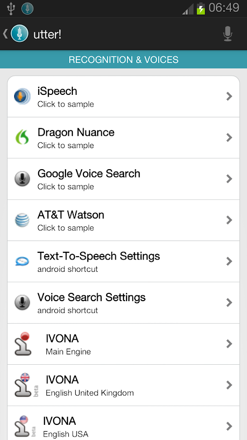 utter! Voice Commands BETA! - screenshot