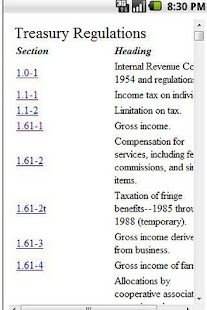 Tax Regs- screenshot thumbnail