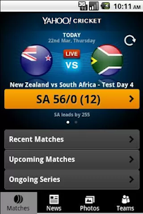 Yahoo Cricket- screenshot thumbnail
