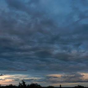 Blue Clouds by Nat Bolfan-Stosic - Landscapes Cloud Formations ( clouds, sky, blue, sunset, storm,  )
