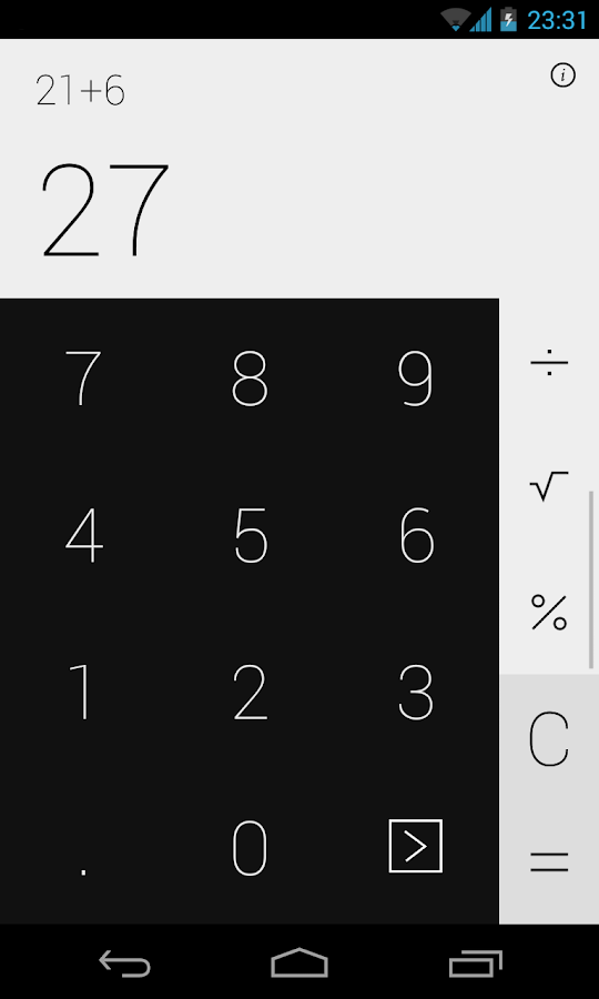 Swipe Calculator FREE- screenshot