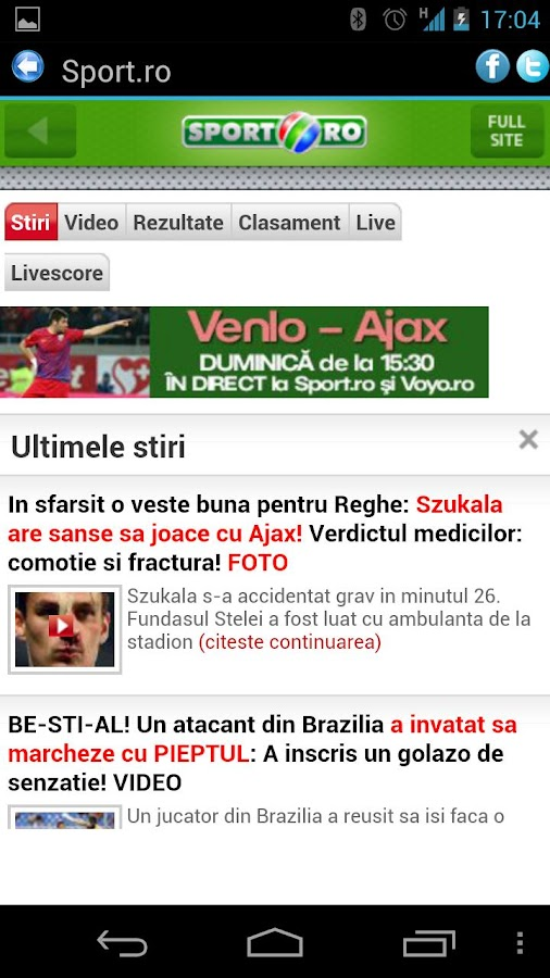 Stiri Romania - screenshot