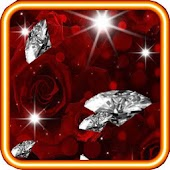 Rose Diamond 3d Live Wallpaper
