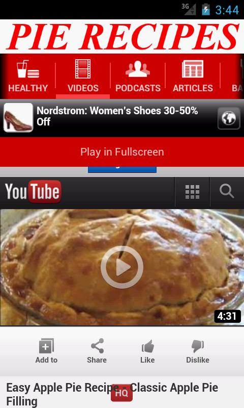 Pie Recipes - screenshot