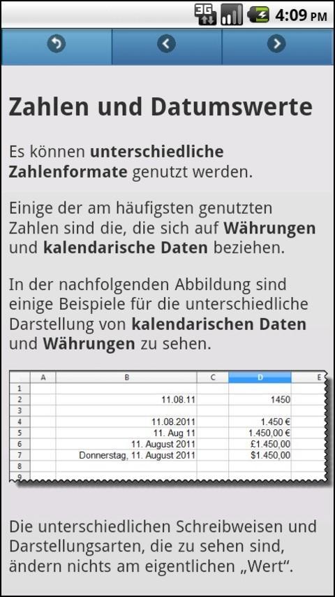 Basiskurs OpenOffice Calc - screenshot