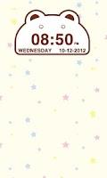 Screenshot of Cute Bear Clock Widget
