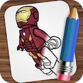Drawing Lego Superheroes APK for Bluestacks