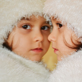 reflection by Rux Georgescu - Babies & Children Child Portraits ( child, mirror, mistery, reflection, little girl )
