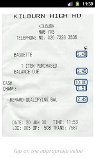 Receipts- screenshot thumbnail