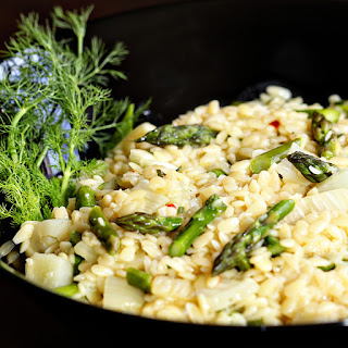 Asparagus and Fennel Orzo