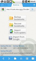 Screenshot of Maxthon Add-on:Bookmark Backup