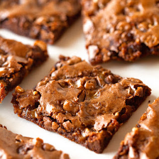 Toffee and Chocolate Chip Brownie Bark.