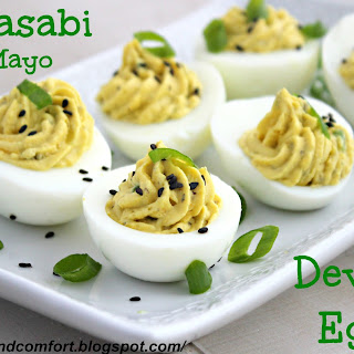 Wasabi Mayo Deviled Eggs Recipe