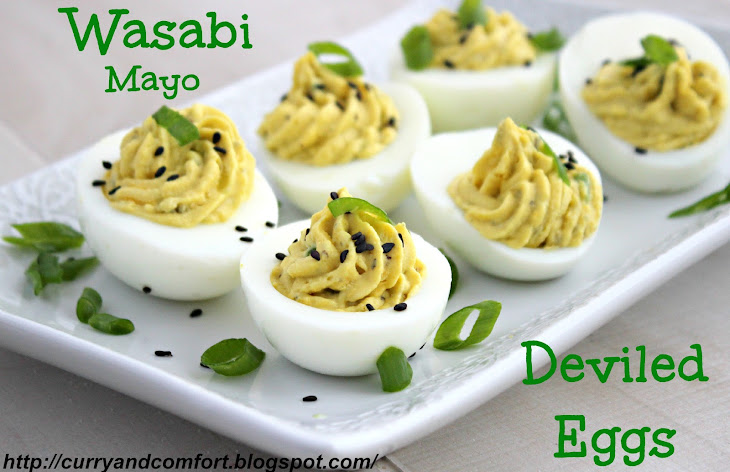 Wasabi Mayo Deviled Eggs Recipe