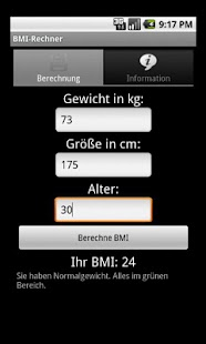 BMI Rechner- screenshot thumbnail