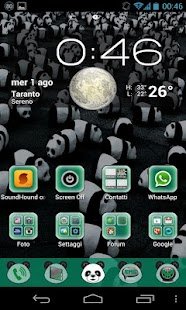 Panda Theme GO Launcher EX - screenshot thumbnail