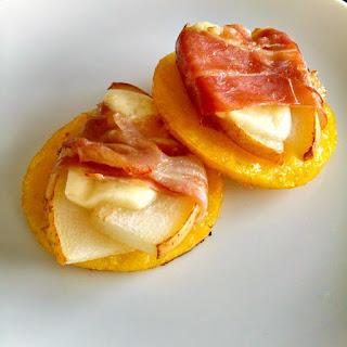 Pear, Prosciutto, Polenta Bites