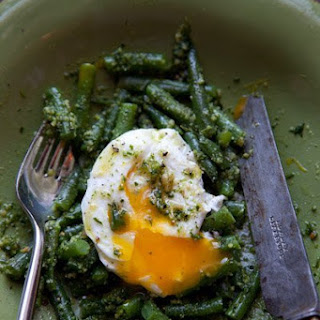 Green Beans with Almond Pesto.
