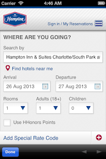 Hampton Inn & Suites SouthPark - screenshot thumbnail