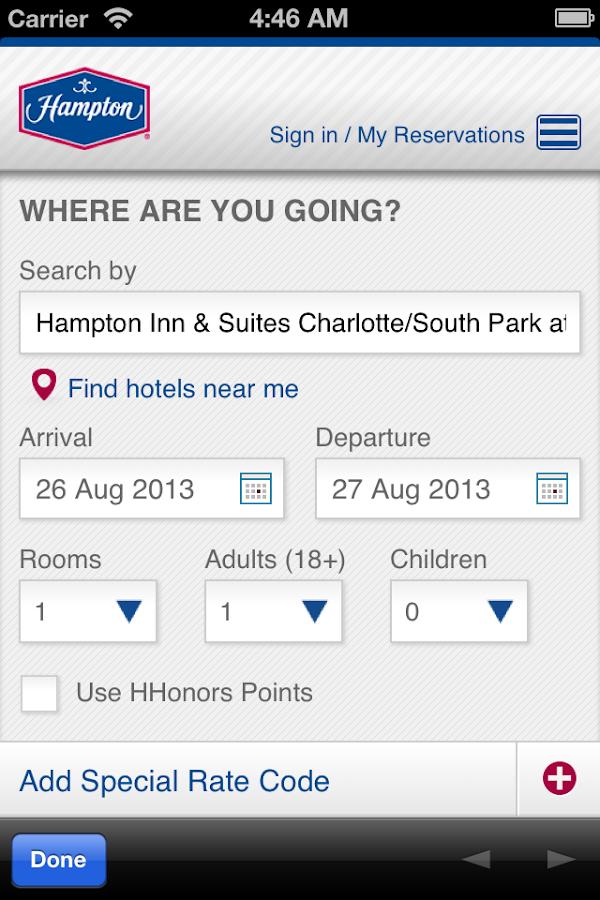 Hampton Inn & Suites SouthPark - screenshot