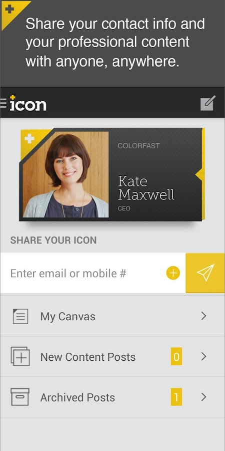 Icon: The Social Business Card- screenshot