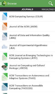 ACM Digital Library - screenshot thumbnail