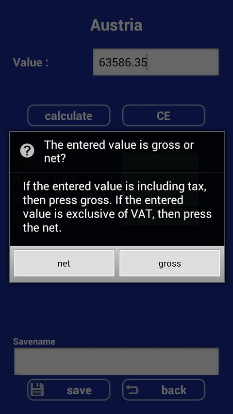 VAT Calculator Europe FREE - screenshot