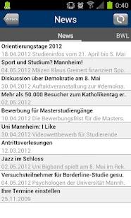 Universität Mannheim- screenshot thumbnail
