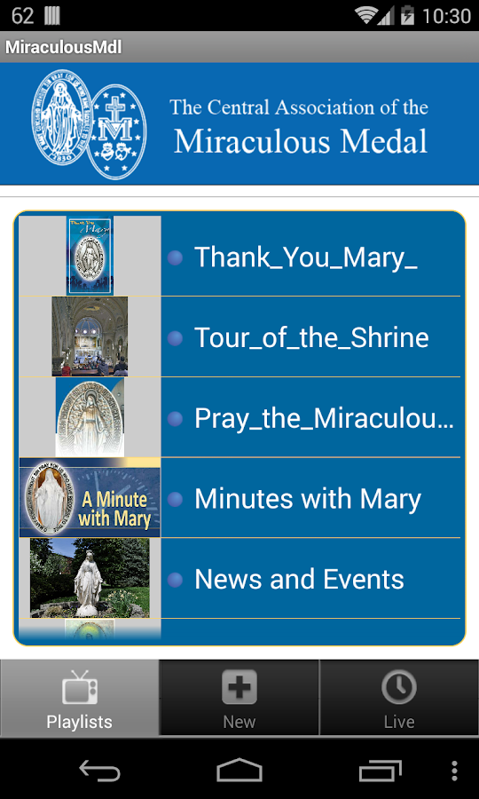 Miraculous Medal- screenshot
