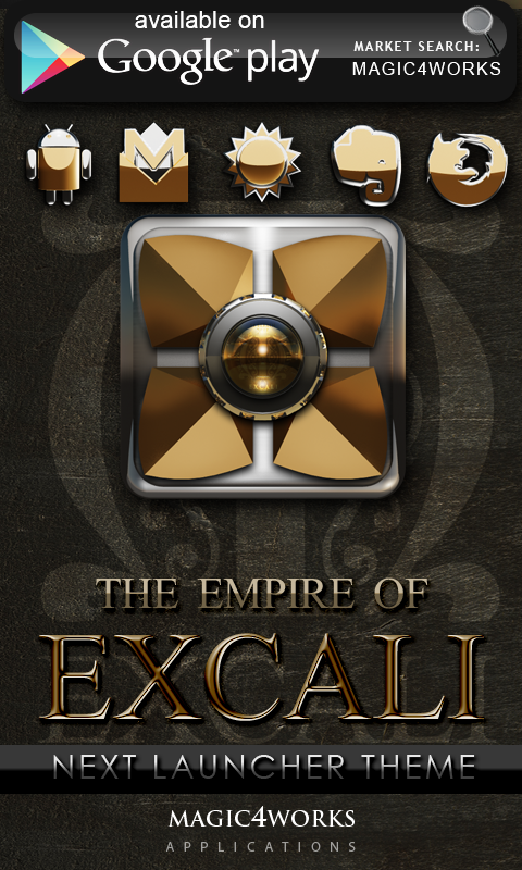 EXCALI GO Launcher theme - screenshot