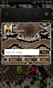 How to install Snake GO SMS Pro theme patch 1.03 apk for pc