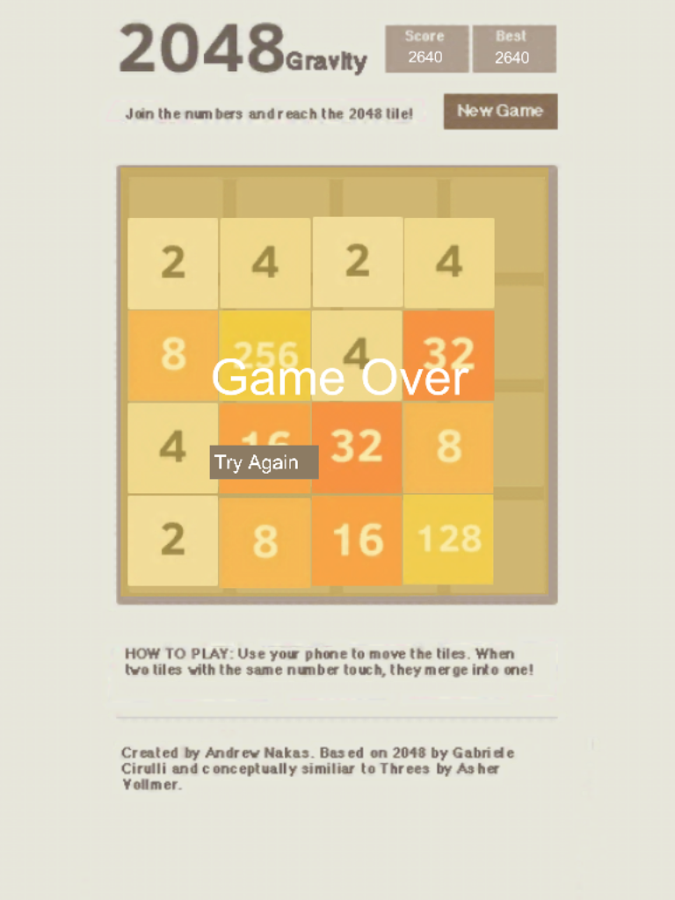 2048 Gravity - screenshot