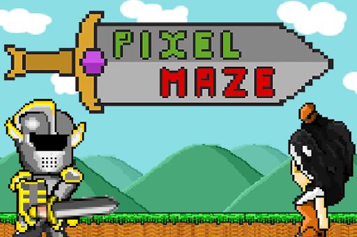 Pixel Maze - 在冒险王的宫殿。从迷宫中逃脱