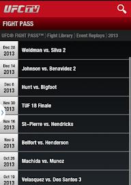 UFC.TV & UFC FIGHT PASS Screenshot 10