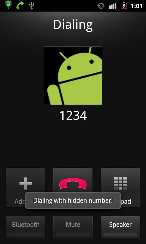 Hide Number (Caller Id) - screenshot
